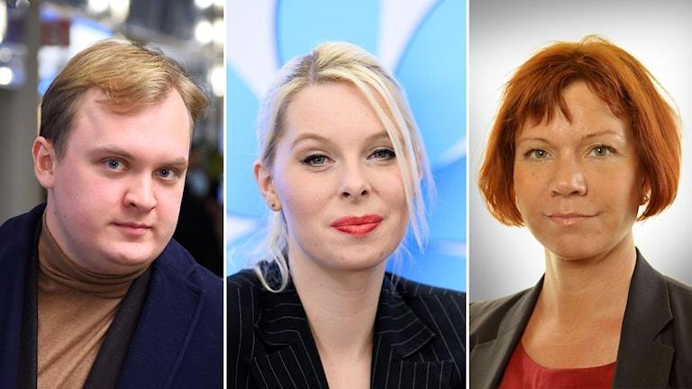 De före detta sverigedemokraterna Pavel Gamov, Hanna Wigh och Margareta Larsson.