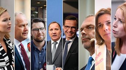 Alla partiledare Sveriges riksdag