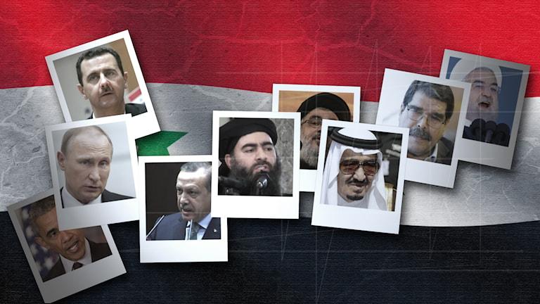 De olika gubbarna på bild som är parter i konflikten