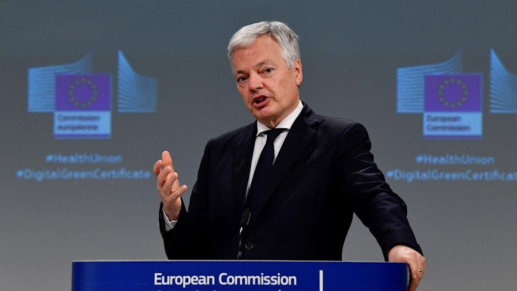 EU:s justitiekommissionär Didier Reynders.