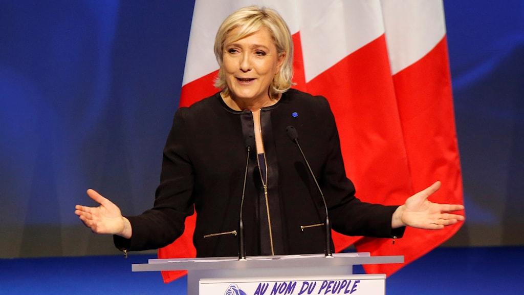 Nationella frontens Marine Le Pen.