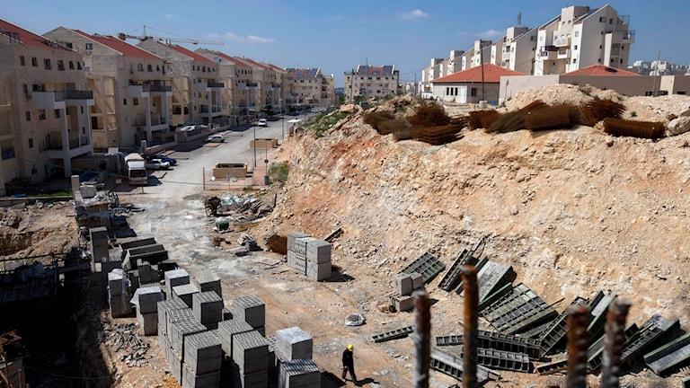 Byggarbetsplats på Västbanken