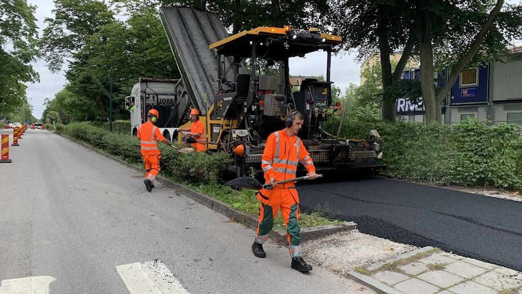 Fallvänlig asfalt testas i Lund.