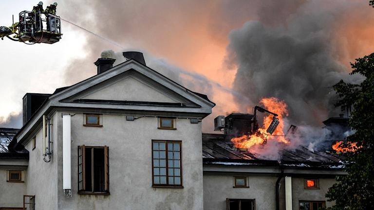 Brand i Kungliga Konsthögskolans lokaler på Skeppsholmen i Stockholm.