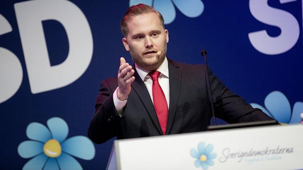SD:s gruppledare Henrik Vinge.