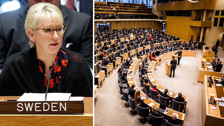 Utrikesminister Margot Wallstrom (S).