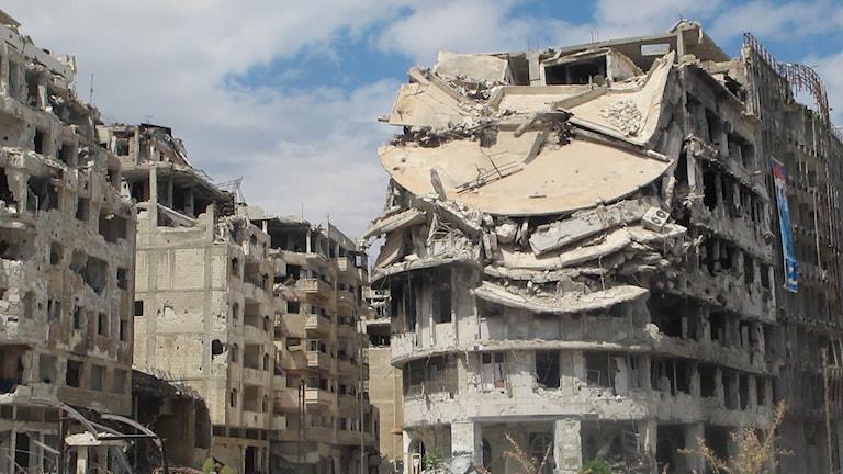 Staden Homs efter striderna
