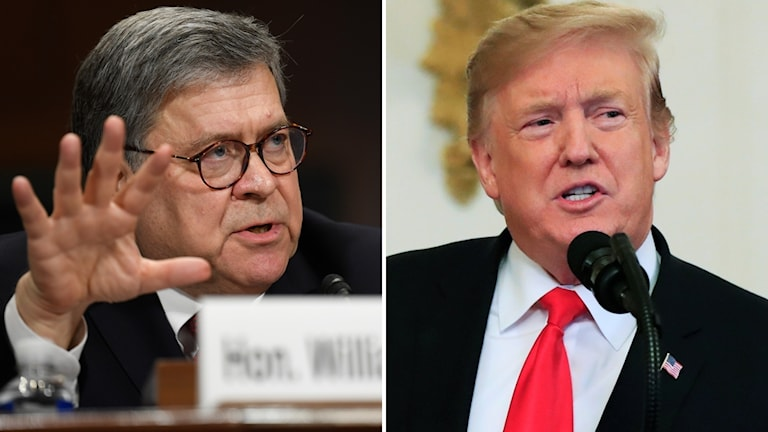 William Barr och Donald Trump.
