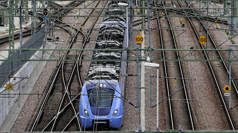 Ett pågatåg på Malmö Central.