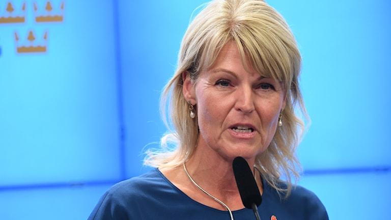 Handelsminister Anna Hallberg