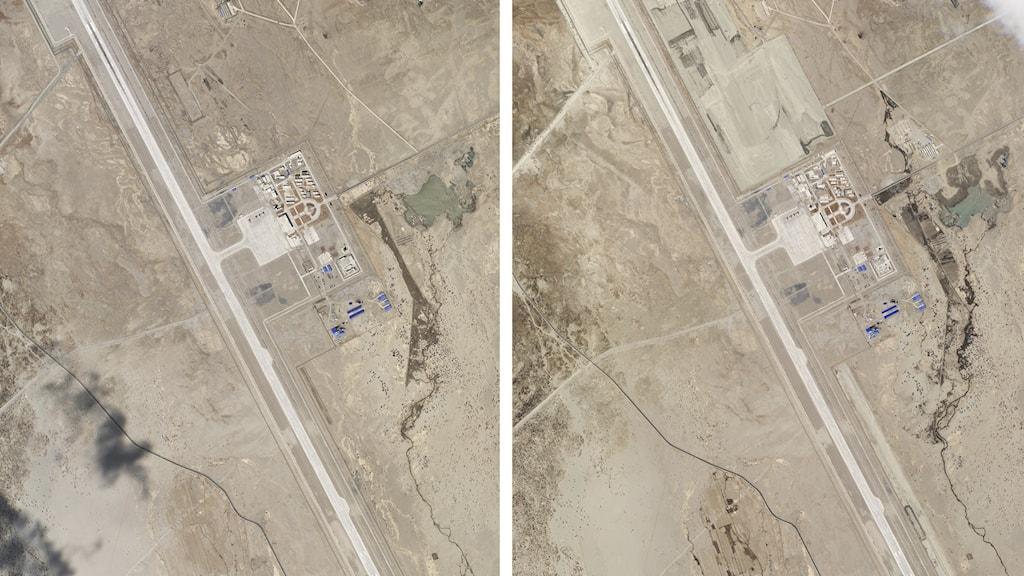 Satellitbild av indisk-kinesisk gräns.