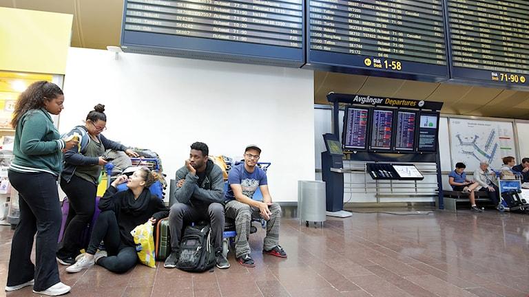 Strandsatta passagerare på Arlanda på grund av strejk (arkivbild). Foto: Sören Andersson/TT.