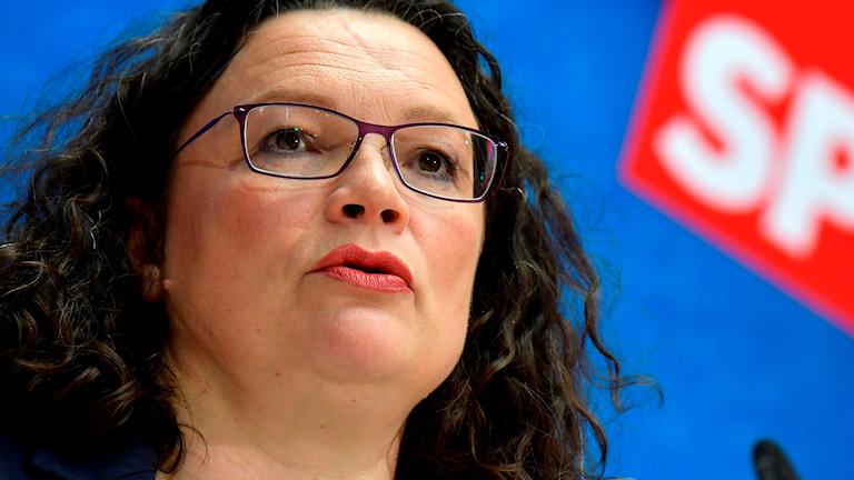 Andrea Nahles, partiledare för tyska socialdemokraterna SPD.