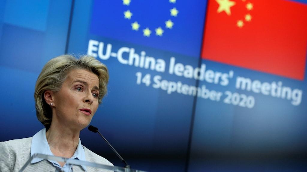 Kina slår tillbaka efter EU:s kritik