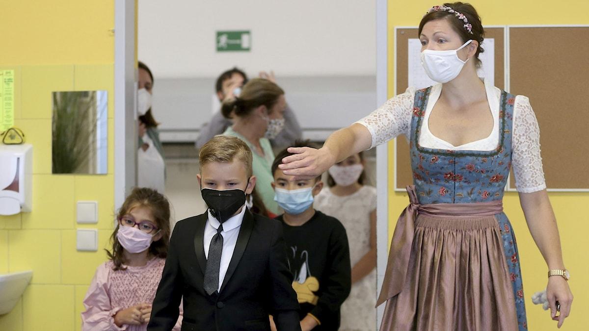 Barn i en Österrikisk skola.