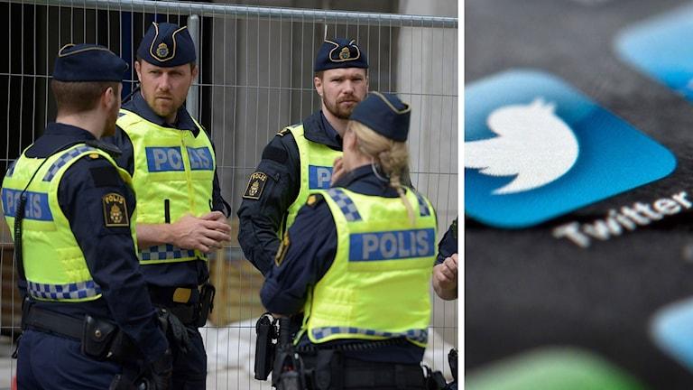 Split polis Twitter