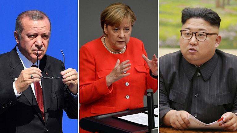 Erdogan, Merkel och Kim Jong Un