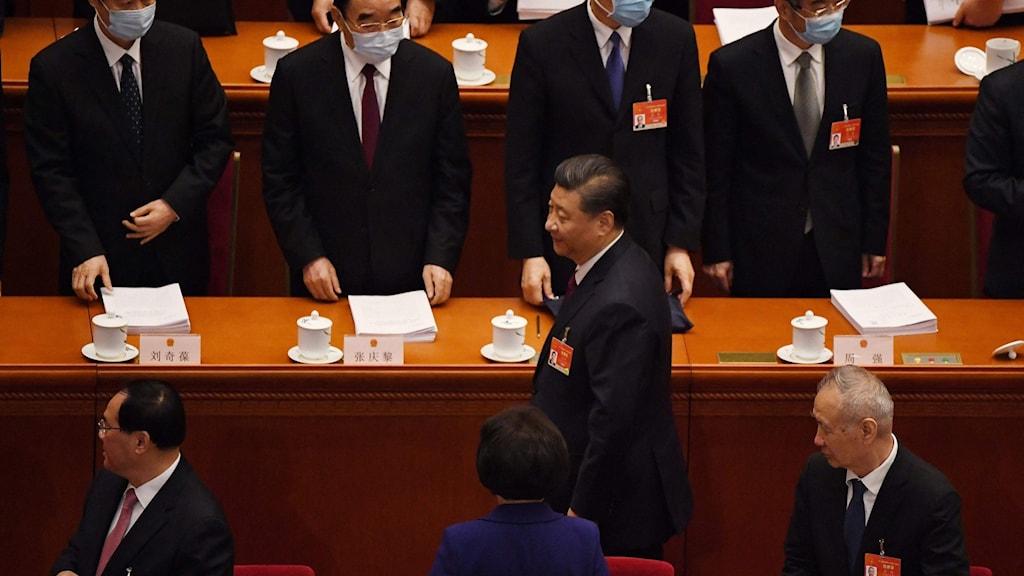 President  Xi Jinping under Kinas Folkkongress