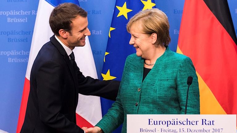 Emanuel Macron Angela Merkel