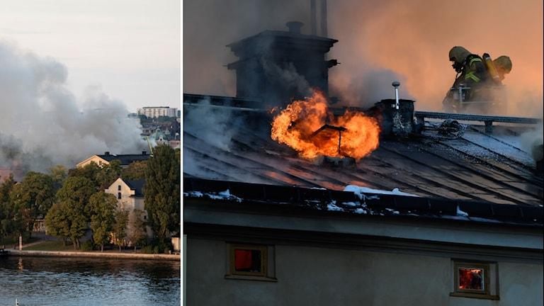 Kraftig brand på Konsthögskolan i Stockholm