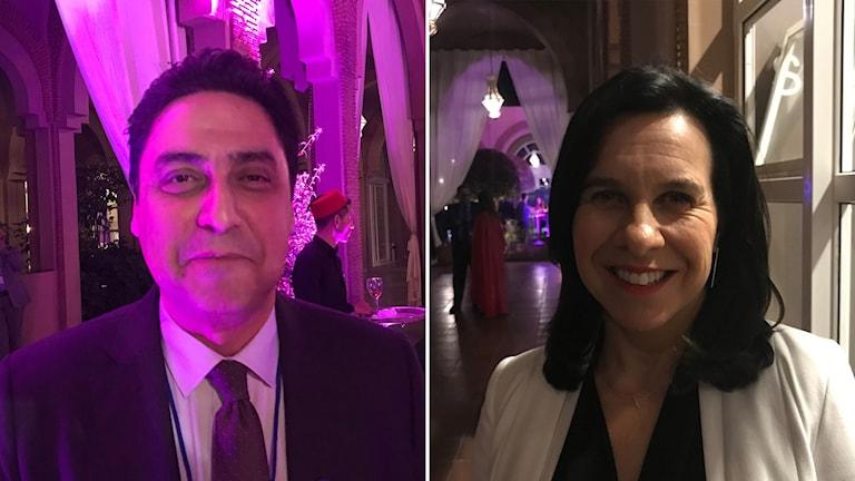 Omar Hjira och Valérie Plante är båda borgmästare, från olika delar av världen och vill lära av varandra.