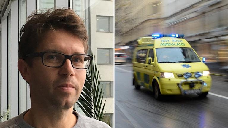 Biträdande överläkare Per Nordberg har lett studien som visar på bättre överlevnad om personer med hjärtstopp kyls ner.