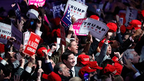 Trumpväljare under presidentvalskampanjen 2016 i USA.