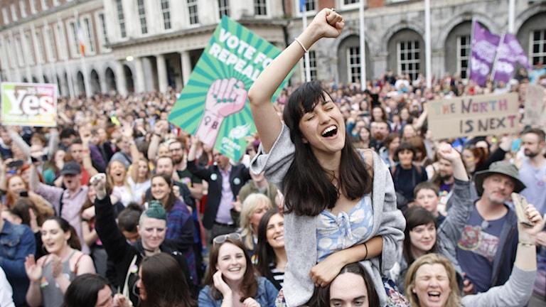 Abortförespråkare på Irland tidigare i våras.