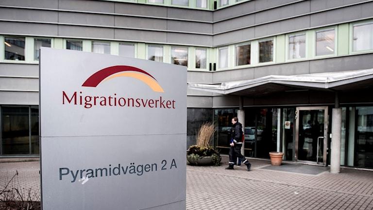 Migrationsverket i Solna. Foto: Marcus Ericsson/TT.