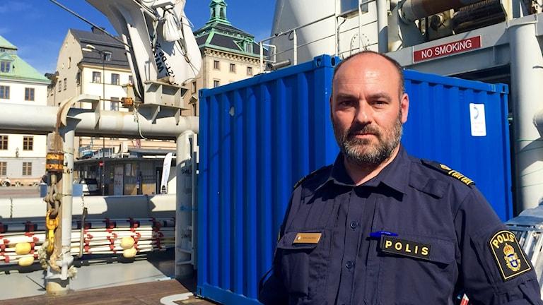 Patrik Engström, polis och sitter i styrelsen för Frontex.