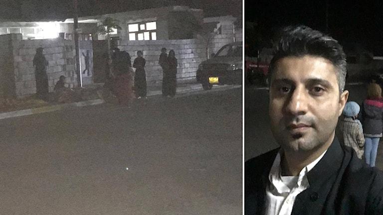 Ekots reporter Shaho Mwany på plats i Irak efter jordbävning