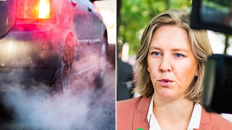 Karolina Skog, miljöminister, avgaser, EU