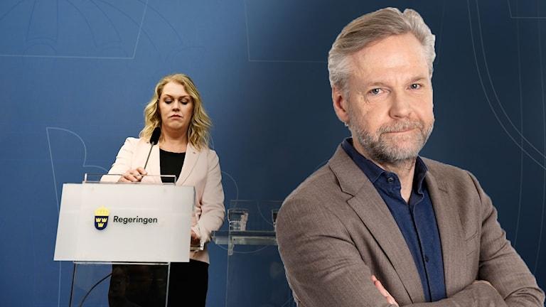 Lena Hallengren (S) och Tomas Ramberg.