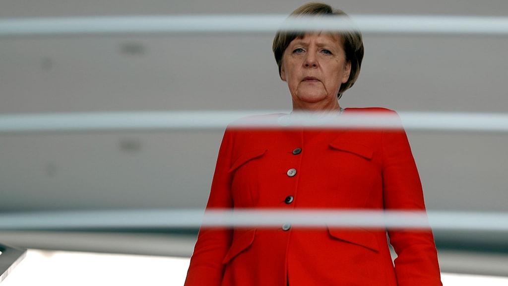 Angela Merkel i Berlin under måndagen.