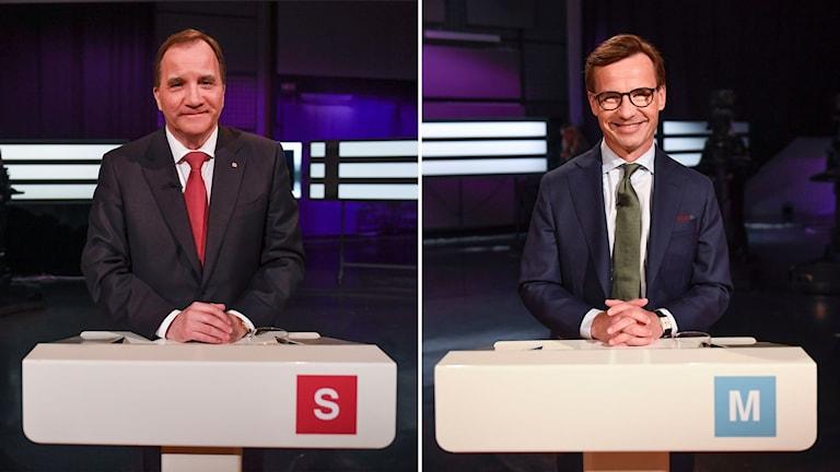 Socialdemokraternas Stefan Löfven och Moderaternas Ulf Kristersson.