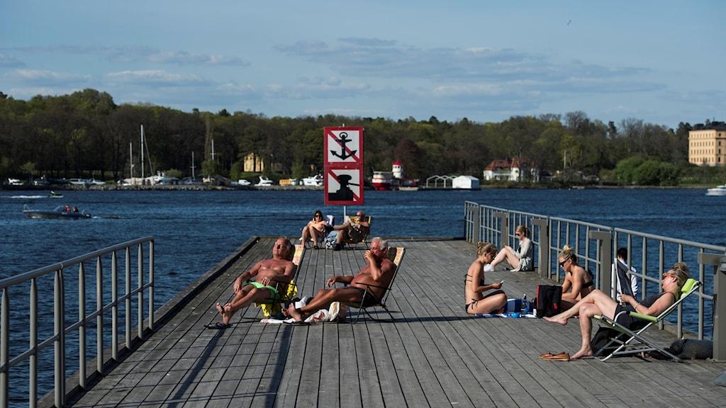 Sommarvärme i Stockholm