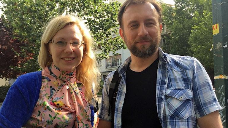 Turisterna Olga och Dimitrij från Moskva.