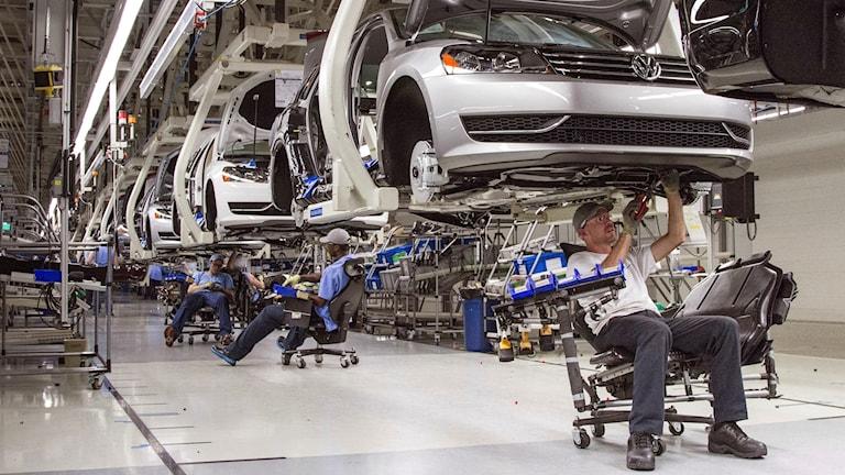 Biltillverkning i Tennessee i USA.