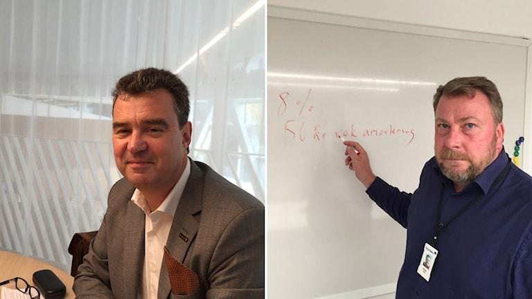 Christer Trädgårdh, chef Swedbank Sverige och Michael Skytt, bolånechef Nordea Sverige.