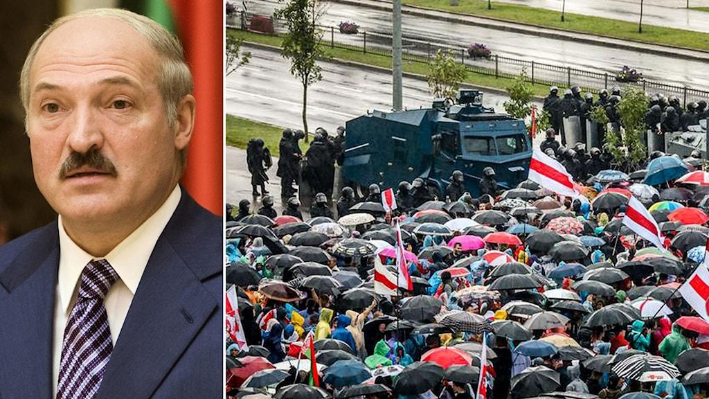 Nya protester mot Lukasjenko i Belarus.