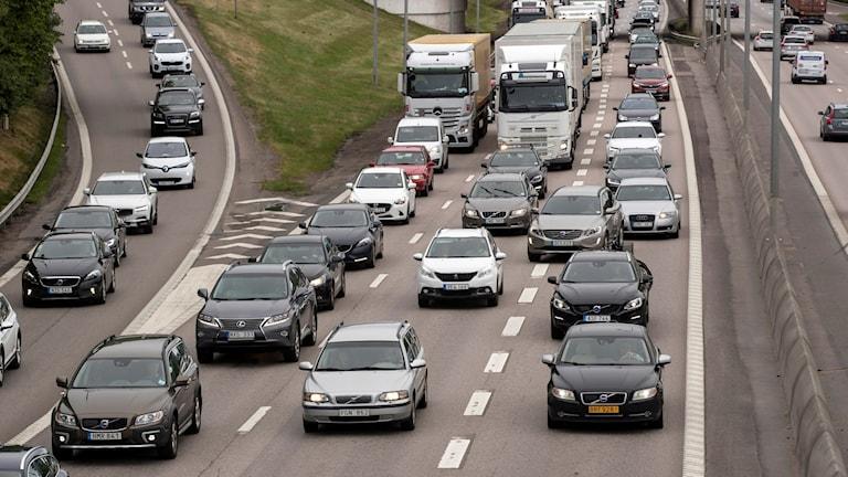 Trafik norrut från Göteborg.