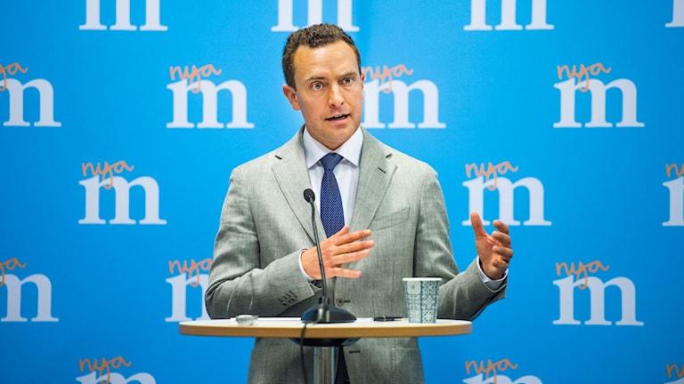 Moderaternas partisekreterare Tomas Tobé inleder partiets Sverigemöte på Malmömässan i Malmö. Foto: Emil Langvad / TT