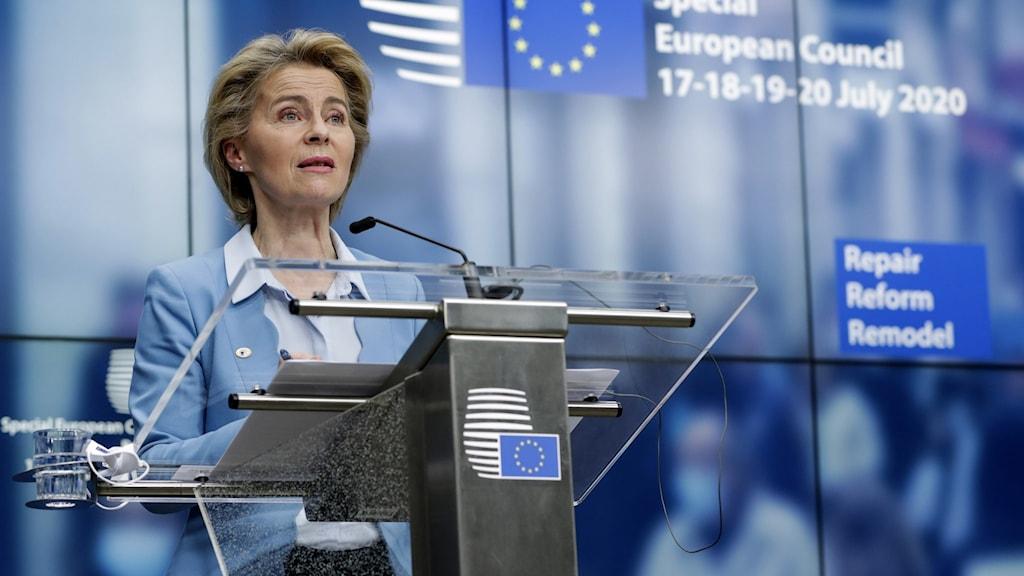 EU-kommissionens ordförande Ursula von det Leyen.