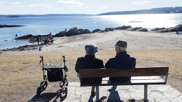 Äldre par, pensionärer