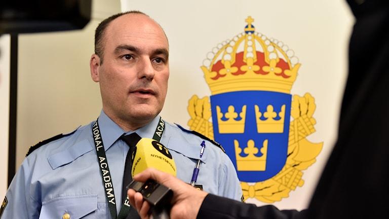 Patrik Engström som är chef för svenska gränspolisen.