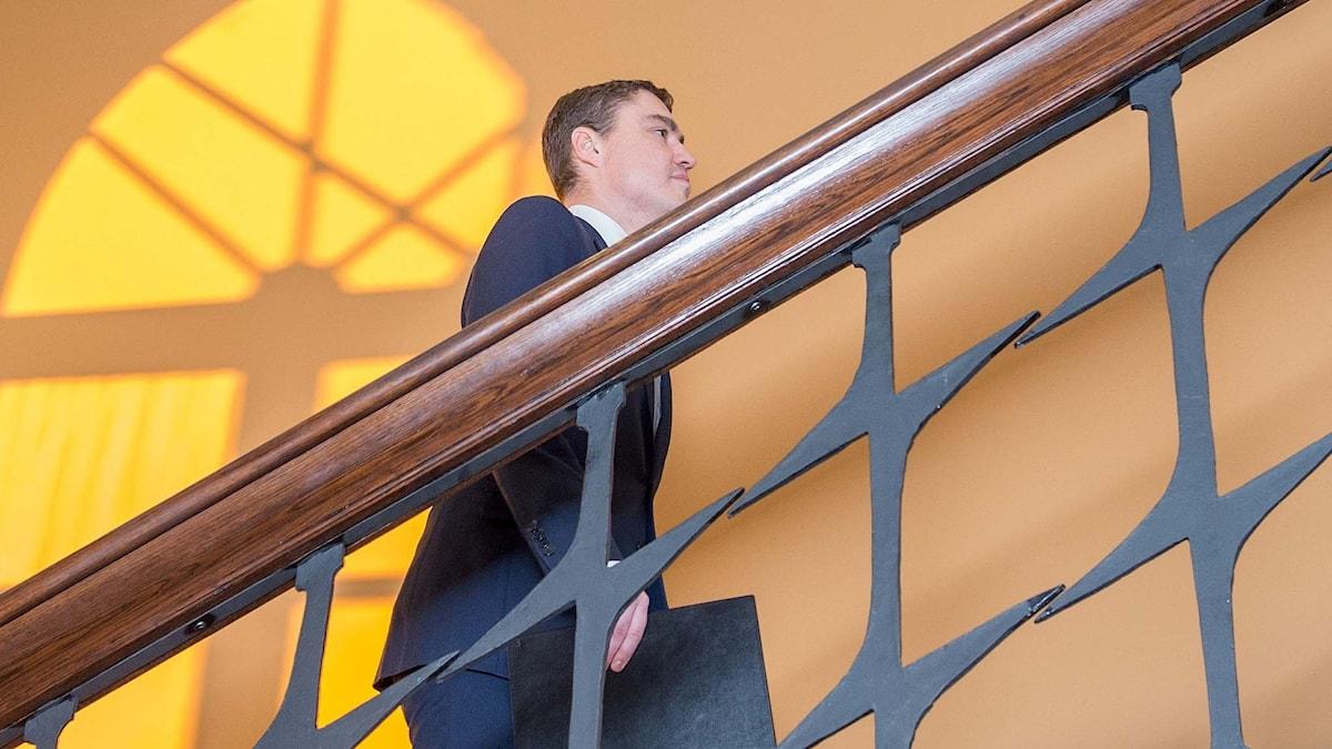 Estlands bortröstade premiärminister Taavi Rõivas.