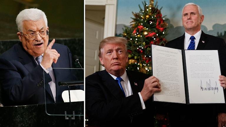 Den palestinske presidenten Mahmud Abbas menar att USA har abdikerat från medlarrollen i Mellanöstern.