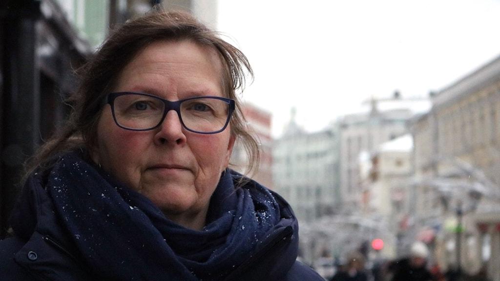 Maria Persson Löfgren på plats i Moskva.