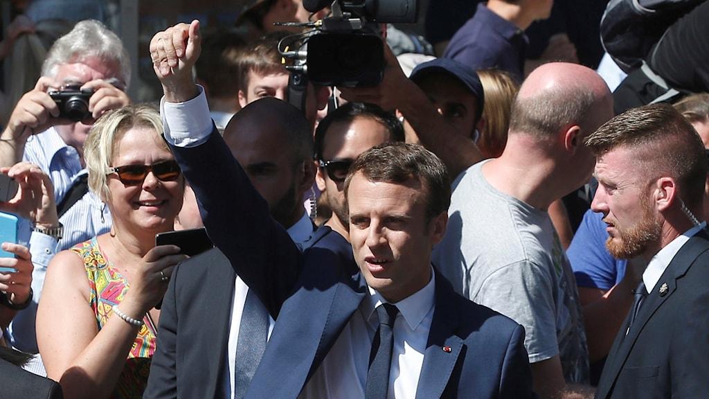Den franske presidenten Emmanuel Macron.