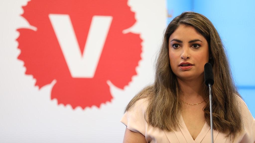 Vänsterpartiets partiledare Nooshi Dadgostar